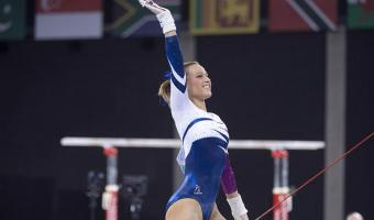 GYMNASTS MAKE COMMONWEALTH INDIVIDUAL FINALS, AS MEN'S TEAM AIM FOR MEDAL