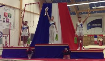 ARTISTIC GYMNASTS WIN A TRIO OF MEDALS IN ARQUES