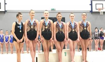 RHYTHMIC WIN MEDALS AT THE SEASIDE CUP