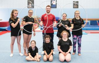 DAN DROPS IN TO DISABILITY GYMNASTICS CAMP