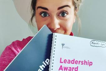 Fiona takes leadership award online