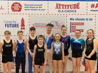 Nine selected to new Trampoline programme
