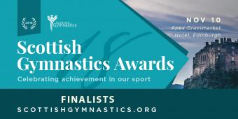 FINALISTS ANNOUNCED FOR SCOTTISH GYMNASTICS AWARDS