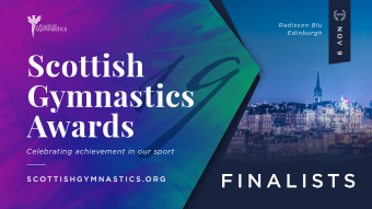 FINALISTS SHORTLISTED FOR SCOTTISH GYMNASTICS AWARDS