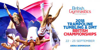 GYMNASTS SET FOR TRAMPOLINE, TUMBLE AND DMT BRITISH CHAMPIONSHIPS